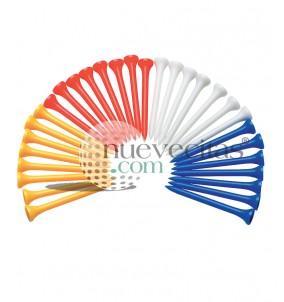 tee de plastico multicolor